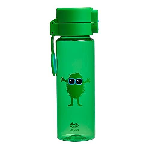 Tinc Kids Hugga tribal karaktär design flip and clip låsbar läckagesäker vattenflaska, grön, 500 ml
