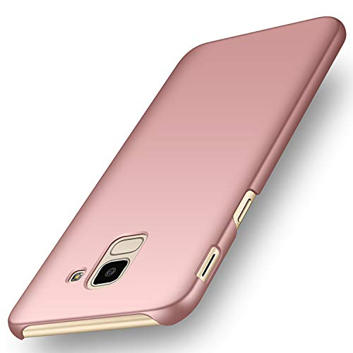 """deconext Funda Samsung J6(2018), Carcasa Ultra Slim Anti-Rasguño y Resistente Huellas Dactilares Protectora Caso de Duro Cover Case para Samsung Galaxy J6(2018) 5,6"""" Rosa Suave"""