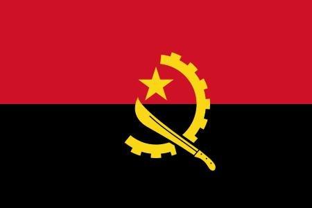 Michael & Rene Pflüger Barmstedt 8,4 x 5,4 cm Autoaufkleber Fahne von Angola Flaggen Sticker Aufkleber fürs Auto Motorrad