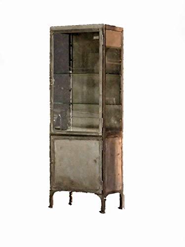 Restaurierte vintage Arztvitrine, Arztschrank, Apothekerschrank, Medizinschrank, Metallschrank, Barschrank, echtes Industrial Style