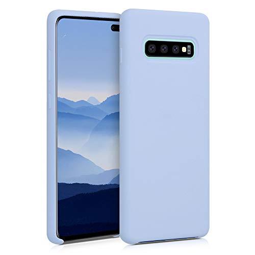 kwmobile Coque Compatible avec Samsung Galaxy S10 Plus - Housse de téléphone Protection Souple en TPU Silicone - Bleu Clair Mat