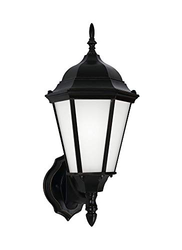 Sea Gull Lighting Generation 89941-12 Transitional One Light Outdoor Wall Lantern from Seagull-Bakersville Collection in Black Finish