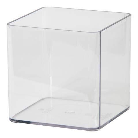 Euro3Plast – Pot Cubik Vision E.8 21X21h Cm transparent