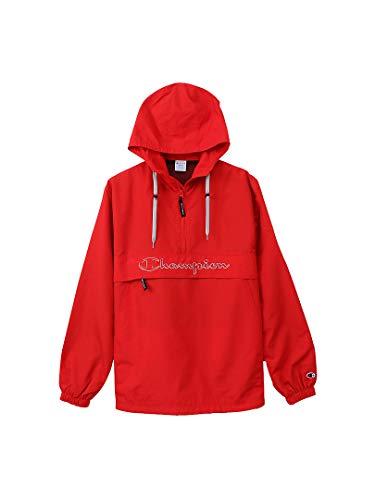 [チャンピオン] アノラックジャケット パーカー ハーフジップ スクリプトロゴ刺繍 C3-L609 メンズ スカーレット L
