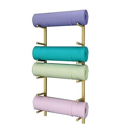 Estera de Yoga Estante Estante de Almacenamiento para Esterillas de Yoga de 6 Niveles, Rodillos de Espuma de Metal para Montaje en Pared Tenedor de La Exhibición de La Estera de La Yoga, Accesorios