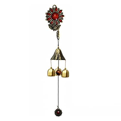 Abimy Chines de vento sussurros do céu, sino de latão, sinos de amor de metal, campainha suspensa, ornamentos de pendurar de cobre e chinesa, ornamentos de pendurar
