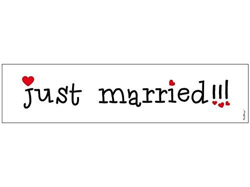 2 x AUTO SCHILDE KFZ Kennzeichen Autokennzeichen Auto Schmuck Braut Paar Deko Dekoration Autoschmuck Hochzeit Car Auto Wedding Deko PKW (Just Married)