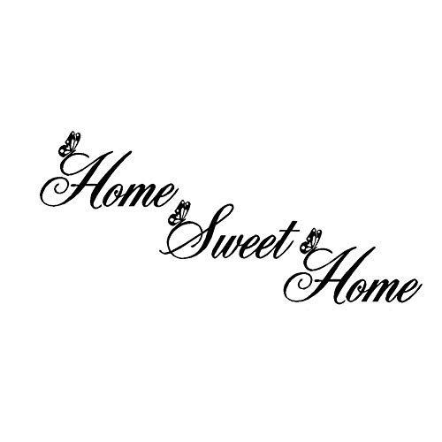 AWSN Home Sweet Home Wall Stickers Living Room Wall Decals Peel and Stick Wall Decals Wall Decals Quotes Sayings Words Decor Lettering Vinyl Wall Art Inspirational Decal (M)