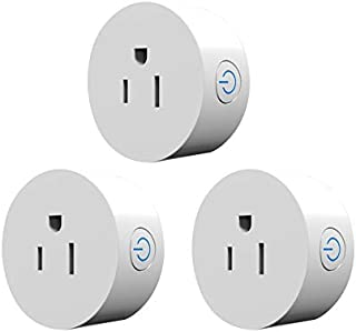 RSH Mini Smart Plug,10A Smart Outlet Wifi Enabled,Compatible with Alexa,Echo dot and Google Home No Hub Remote Control Your Devices From Anywhere 3 Pack