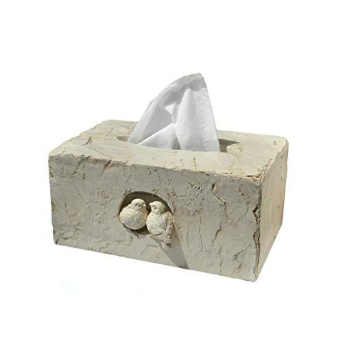 GWF Creatieve Europese mode pastorale schattige liefde vogel hars tissue box stof kantoor huis mode eenvoudige opbergdoos tablet