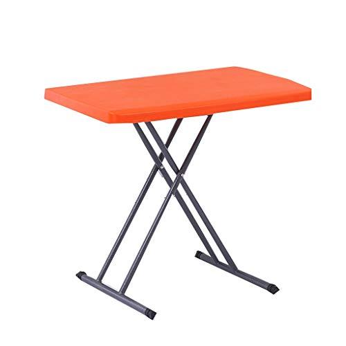 SZQ-Bouts de canapé Plastique Table, Support métal Pliable Table Basse ménages Petit Appartement Kindergarten Table Enfants Bureau réglable Guéridons (Color : F, Size : 75CM*50CM*75CM)