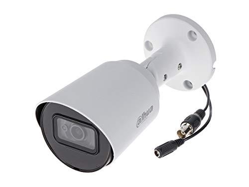 DAHUA HAC-HFW1200TP - Cámara analógica Bullet 1080P 2 MP Óptica fija 2,8 mm IP67 DC12 V HDCVI Smart IR Carcasa de plástico