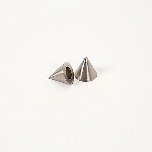 Ventanara eindstukken voor gordijnroede kegel RVS-look diameter 16 mm set van 2