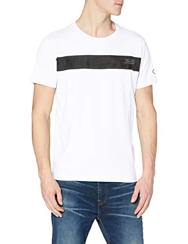 REPLAY M3364 Camiseta, Blanco (001 White), XS para Hombre