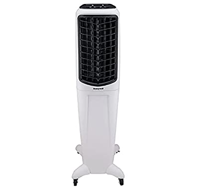 HONEYWELL Evaporative Air Cooler TC50PE with Remote Control and LED Display, 3 Fan Speeds with Osillation Function, For Home or Office Use. FREE Devola LED Keyring (50 Ltr)