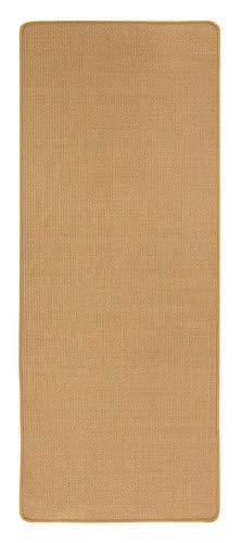 misento Sisal Teppich aus 100{20d35df794f04af33ac2a2f5171d0542b0a9836aaf136a2ac72e967a05c6ff35} Naturfaser Flachgewebe Webteppich uni,67 x 140 cm