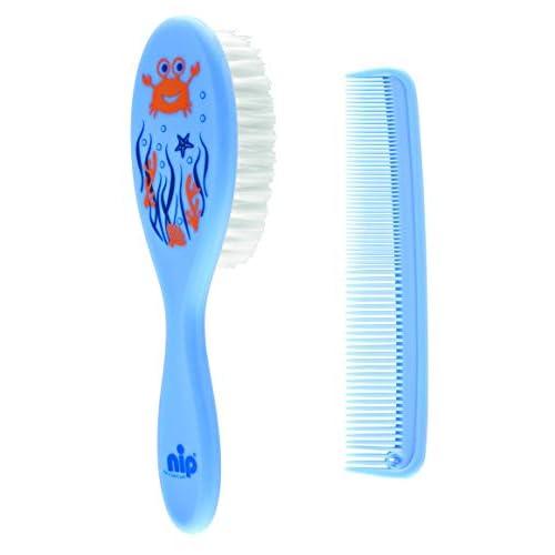 NIP - Set per la cura dei capelli dei neonati composto da pettine e spazzola