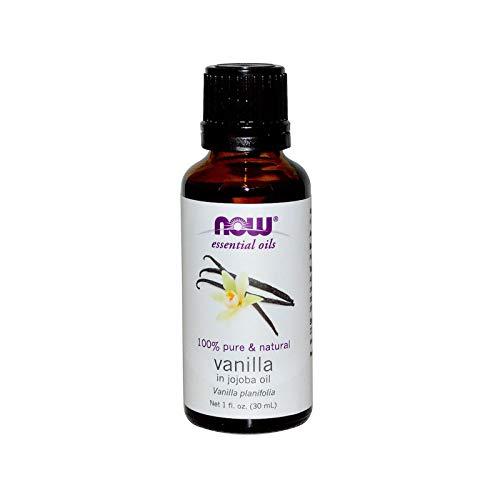 Etherische oliën, vanille, in jojoba-olie, (1 fl oz 30 ml) - Now Foods