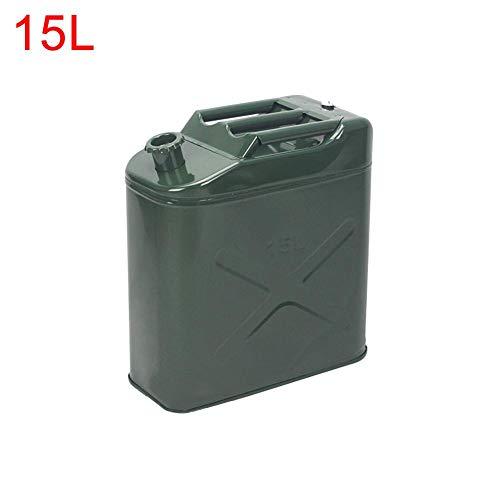 luckything benzine jerrycan metaal 5/10/15/20 liter olijfgroen, brandstof jerrycan voor benzine diesel benzine jerrycan metaal voor auto/motorfiets/vrachtwagen 15 l.