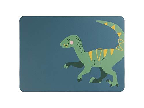 ASA Kids Tischset, Velociraptor Vincent 46 x 33 cm, Lederoptik