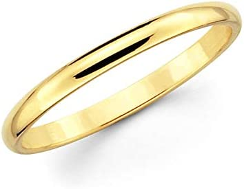 BocaGold 2 MM 5% OFF Stainless Steel Online limited product Gold Ring Stackable Plated Yellow