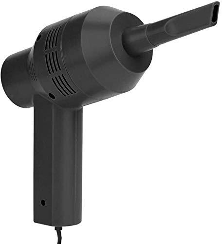 XiuLi Limpiador de computadora, Mini aspiradora Recargable, húmedo, seco, inalámbrico, aspiradora de Escritorio para Limpiar Polvo, pelos, Migas, desechos (Color : Black, Size : Wireless)
