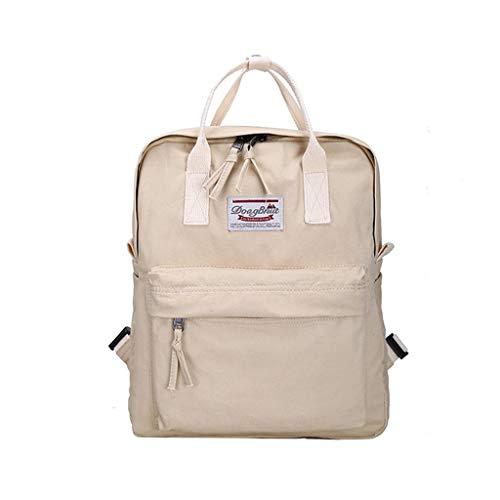 """LZH-backpack Modern Urban Unisex Slim Simple Pink Zaino in Un Classico Zaini Design - Fits Laptop Fino a 13"""" - Daypack Perfetto for Sacchetto di Scuola (Color : Beige)"""