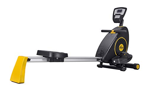 Fisup Exercise & Fitness Rowers Magnetic Rowing Machine Adjustable Powerful Silent System Workout for Home Office Use Black