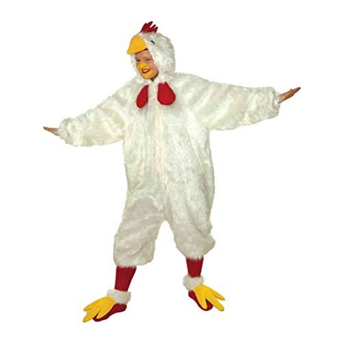 Faschingskostüm Huhn (Overall) Erwachsene unisize