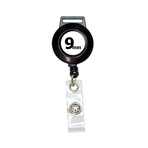 'Grafisch en meer' 9 mm pistool wapen Bullet intrekbare kabel spoel badge identiteitskaart houder