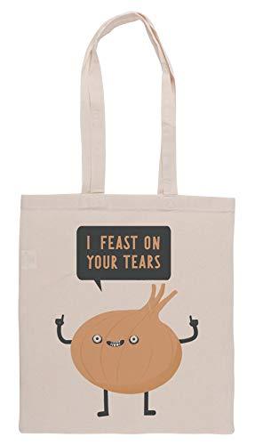 Luxogo I Feast On Your Tears! Einkaufstasche Groceries Beige Shopping Bag