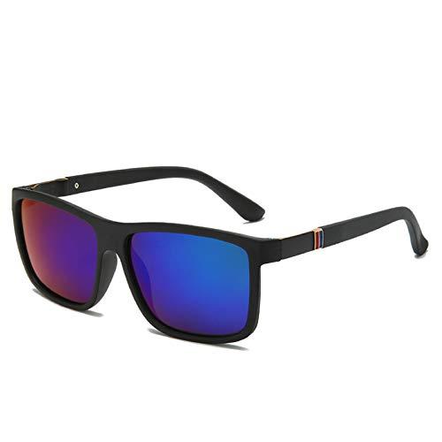 SHEANAON Gafas de Sol cuadradas, cuadradas, Flexibles, de Goma, para conducción, para Hombres, Gafas de Sol polarizadas para Hombres y Mujeres