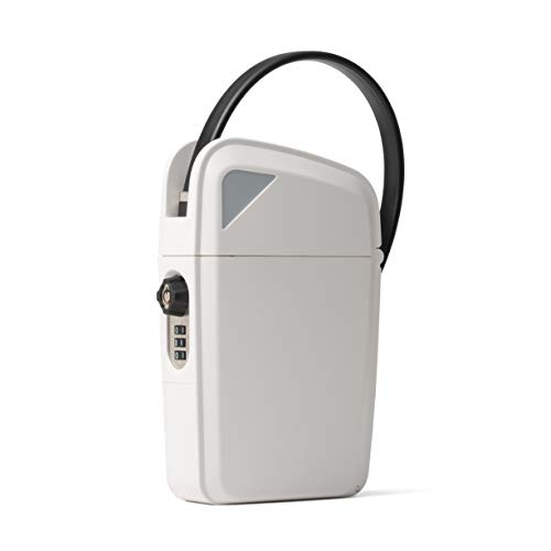 Photo of white SAFEGO Portable Indoor/Outdoor Lock Box Safe