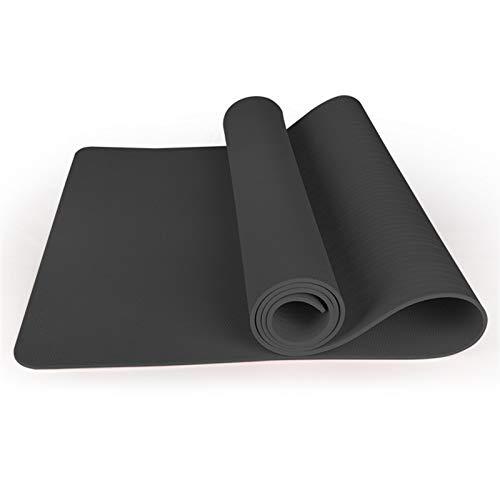 WXHXSRJ Esterilla de yoga, EVA ecológica y antideslizante, con correa de transporte para yoga, pilates y gimnasia, 183 x 80 x 1 cm, gris espacial