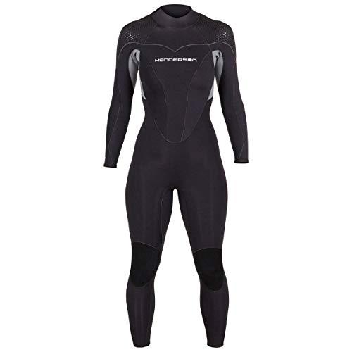 Henderson Women's Thermoprene Pro Wetsuit 7mm Back Zip Fullsuit Black