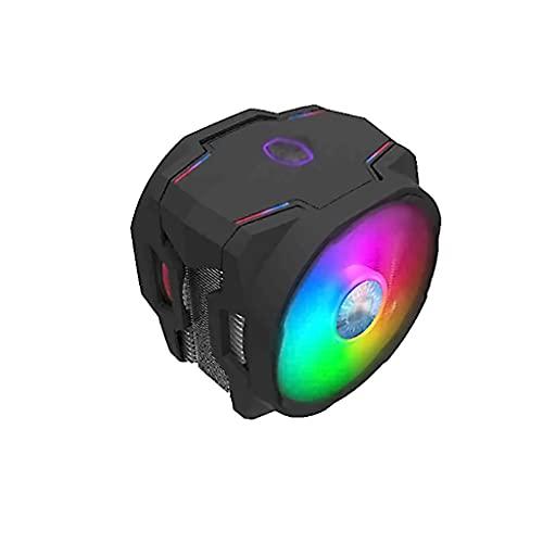 WXIANG Aerocool CPU Air Cooler 120mm Squinfa PWM Fans ARGB/RGB Fan Placa Base Sync Computer CPU Fans de enfriamiento 6 Contacto Directo TEXETPIPES Durable (Light : ARGB)