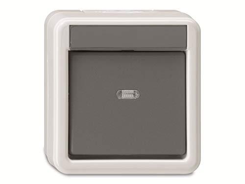 Gira Wippschalter 010630 Wechsel WG AP grau, 250 V, Schwarz, Weiß