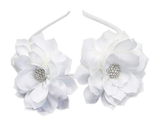 Fascinator Diadema Pinza De Pelo De La Flor De Loto Boda Nupcial Cocktail Headwear (Blanco)