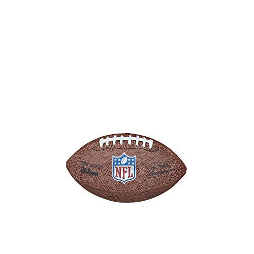 NFL Mini Replica Balón de fútbol Americano Wilson, Cuero Compuesto, Tamaño Mini, Marrón, WTF1631XBNFL