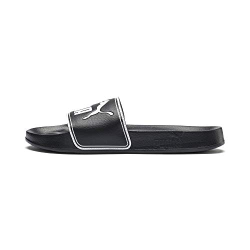 PUMA Leadcat Chanclas, Black-White, 43 EU