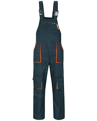 Jkroling Herren Arbeitshose Berufsbekleidung Sicherheitshose Latzhose Hose Arbeitsschutzbekleidung (X-Large, Grün)