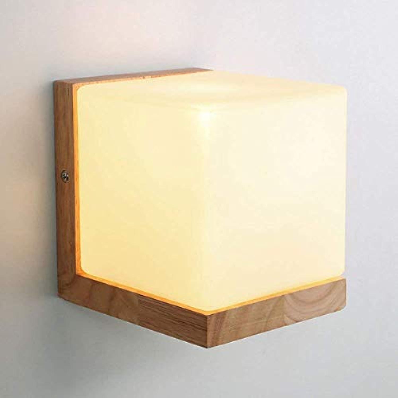 Led Wandlampe Nordeuropa Massivholz Modern Einfach Wohnzimmer Schlafzimmer Licht Gang Bett Wandleuchte 12  14CM
