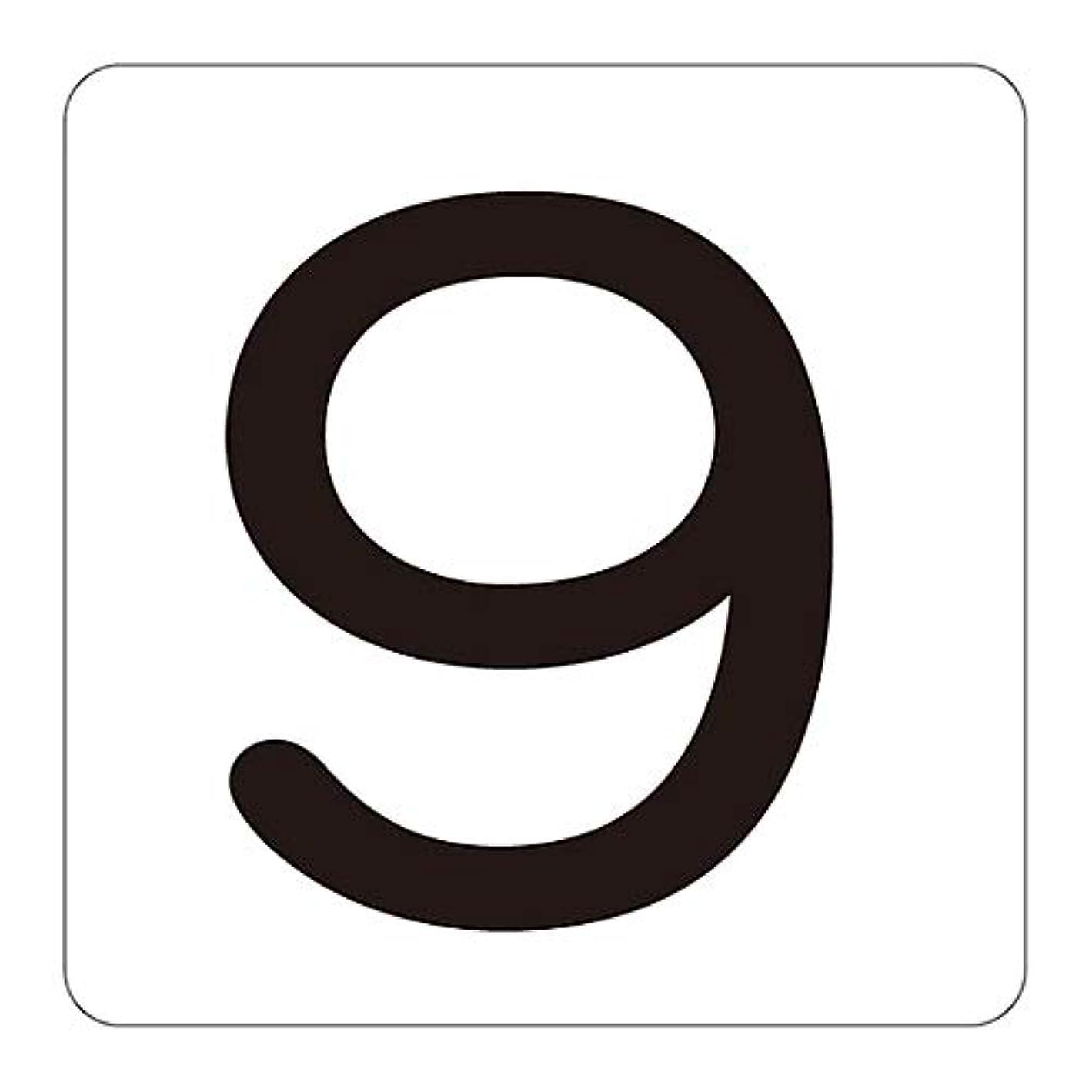 成分プレフィックス魅力的数字表示ステッカー HS-9(5P)中/61-3414-50