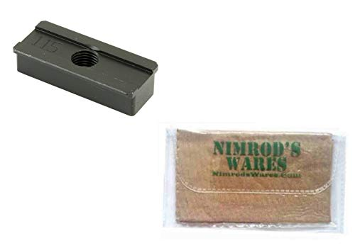 Nimrod's Wares MGW Glock 42 G42 43 G43 Shoe Plate for Rangemaster Sight Tool MGWSP115 Microfiber Cloth