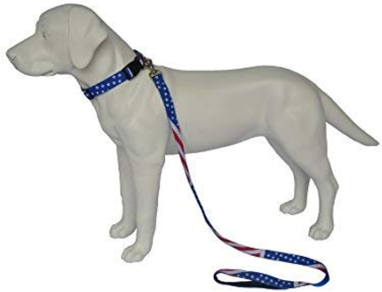 Shirley &B Eva 1 Set Dog Rope Collar Tidy, Husky etc, American Independent Day, USA Flag (S,1''x153 /4'', 2.5x40cm,)