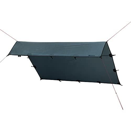 Qeedo Smart Tarp Sonnensegel, Trekking Tarp, leicht, robust, schneller Aufbau, 3x3m