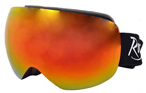 Rapid Eyewear Arosa Gafas DE Snowboard para Hombres y Mujeres también para Esquiar y Escalar glaciares. Lente de Espejo de Doble Capa antideslumbrante