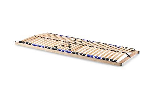 snoozo Lattenrost Lattenrahmen TwinFlex | 28 Federleisten | 5-facher Härteverstellung | zur Selbstmontage | geeignet für alle Matratzen | 90 x 200 cm