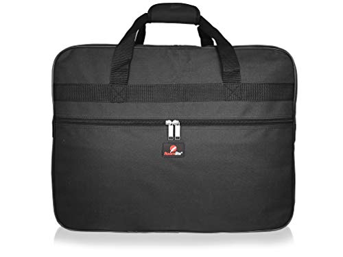 Roamlite Hand Luggage Holdall for Ryan-air and Easy-Jet Carry-On Bags - Exact Size and Shape Travel Duffle - 55 cm x40cm x20cm 40 Litre Flight Baggage - RL56K Black