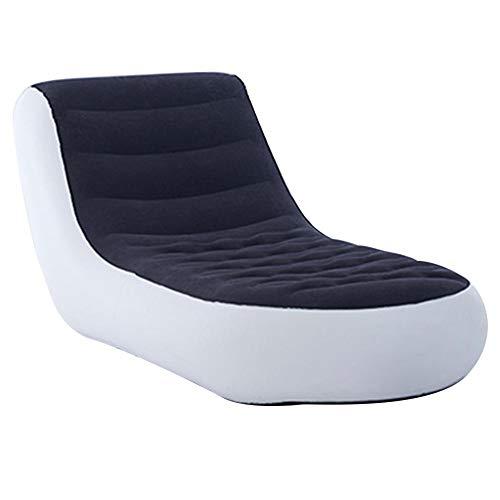 Canapé-lit Gonflable,PVC Blanc Canapé Gonflable Matelas pneumatique canapé Gonflable Fauteuil lit Lounge Soft Furniture Bed Seat pour Living Backyard Camping,165x88x79cm / 64.96x34.65x31.10inch